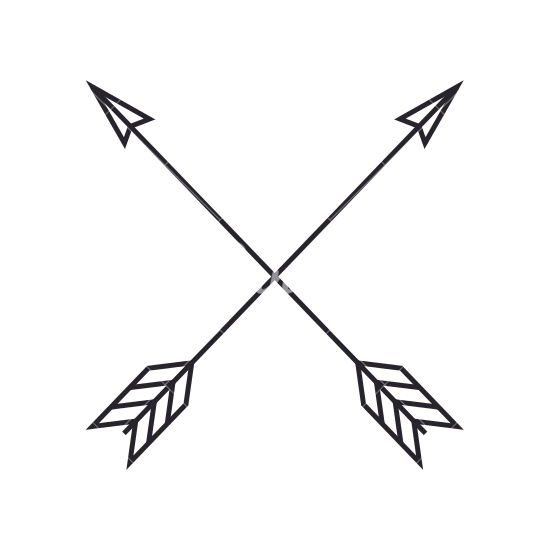 Arrow clipart free boho.