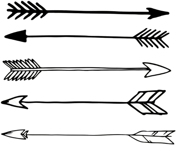 Arrow clipart black and white drawing pictures on Cliparts ...