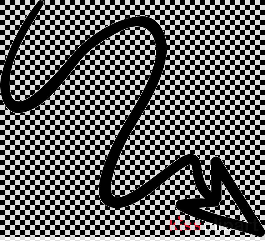 Doodle arrow clipart.