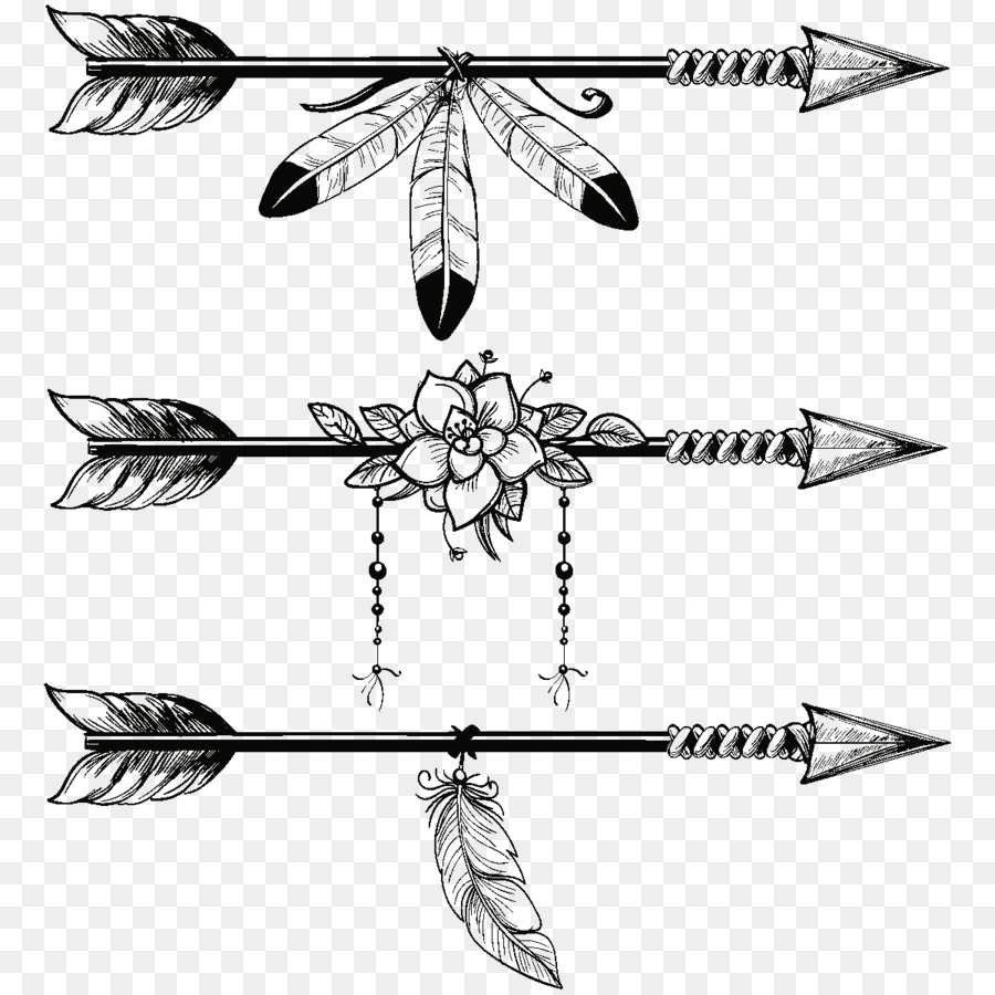 Line art arrow.