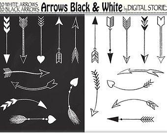 Hand Drawn Arrows Tribal Aztec Digital Clip Art by