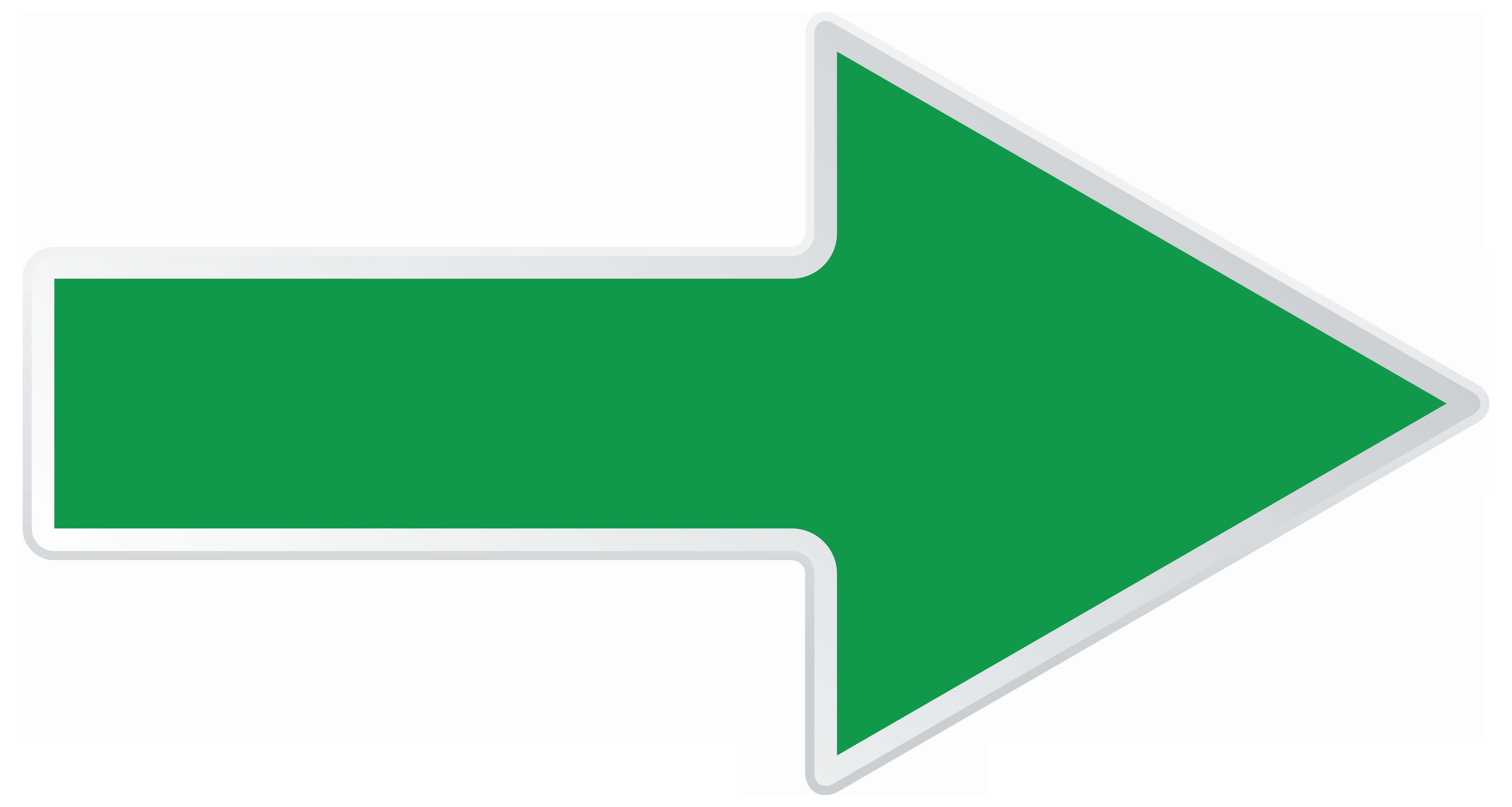 Green Right Arrow Transparent PNG Clip Art Image
