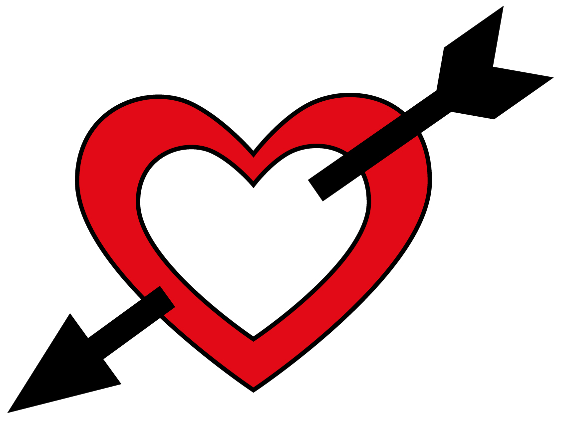 Free Heart With Arrow, Download Free Clip Art, Free Clip Art