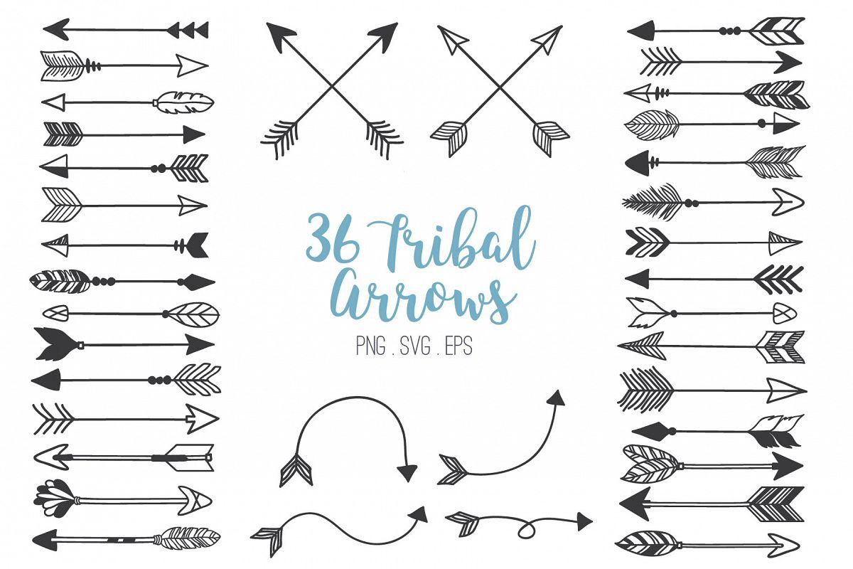 Tribal arrows clip.