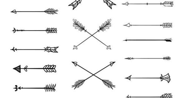 Doodle tribal arrows.