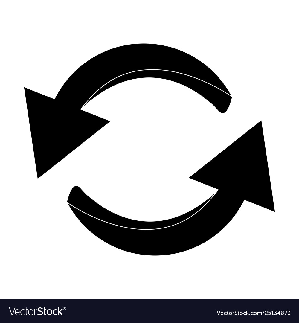 Arrow symbol silhouette icon clipart cycle