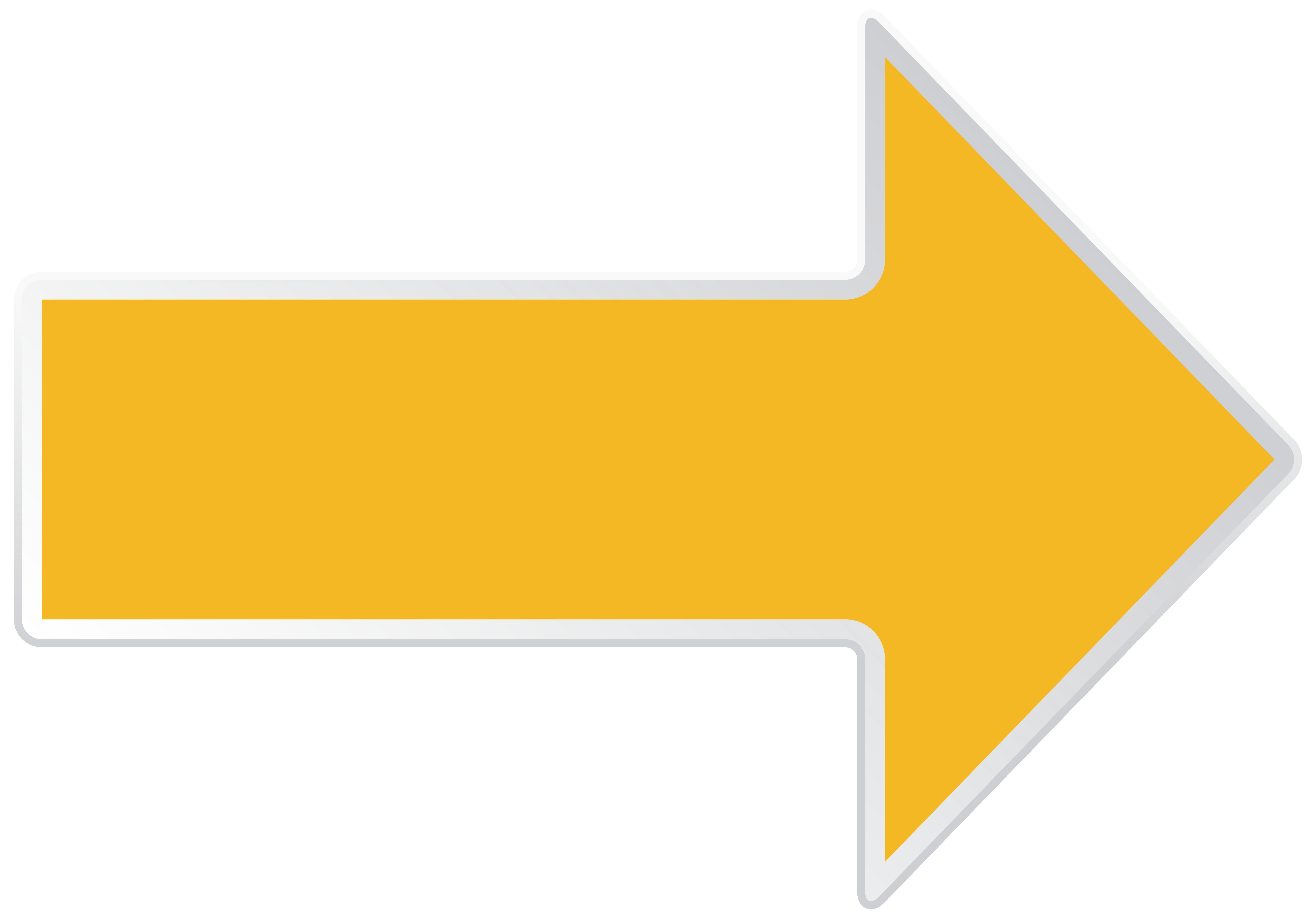 Arrow Yellow Right Transparent PNG Clip Art Image