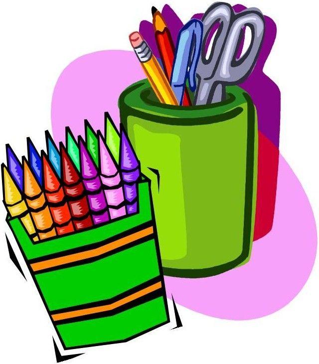 Art supplies clipart.