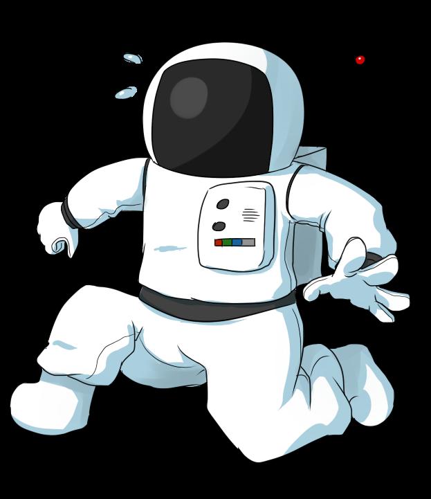 Free cartoon astronaut.