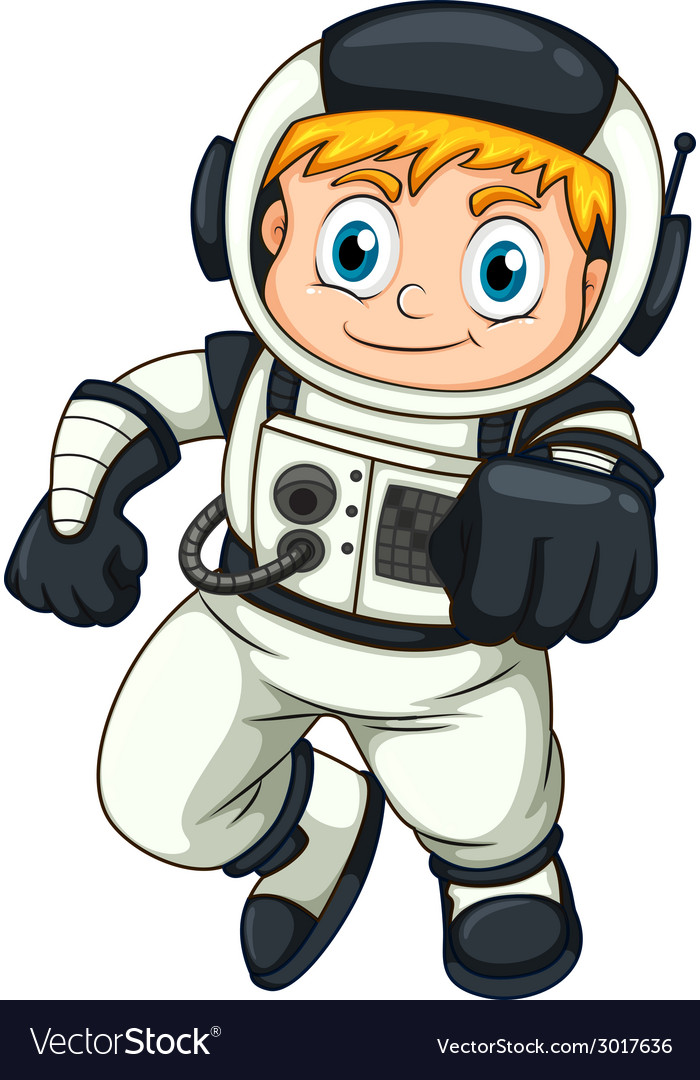 A male astronaut