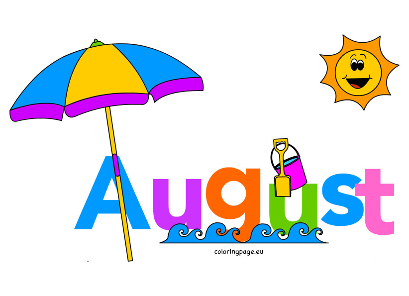 August clipart cliparts.
