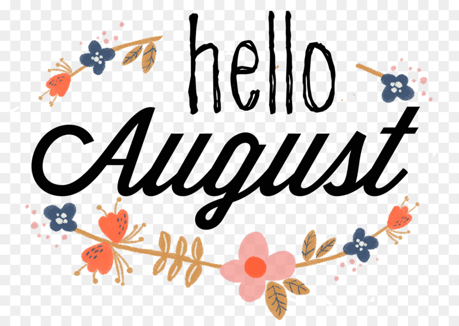 August text clipart.