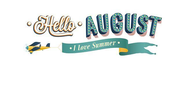 Hello august clipart.