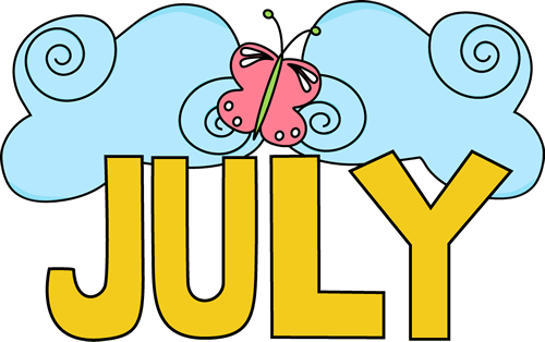 August clipart july.