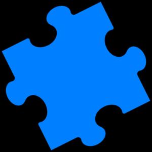 Blue puzzle piece.