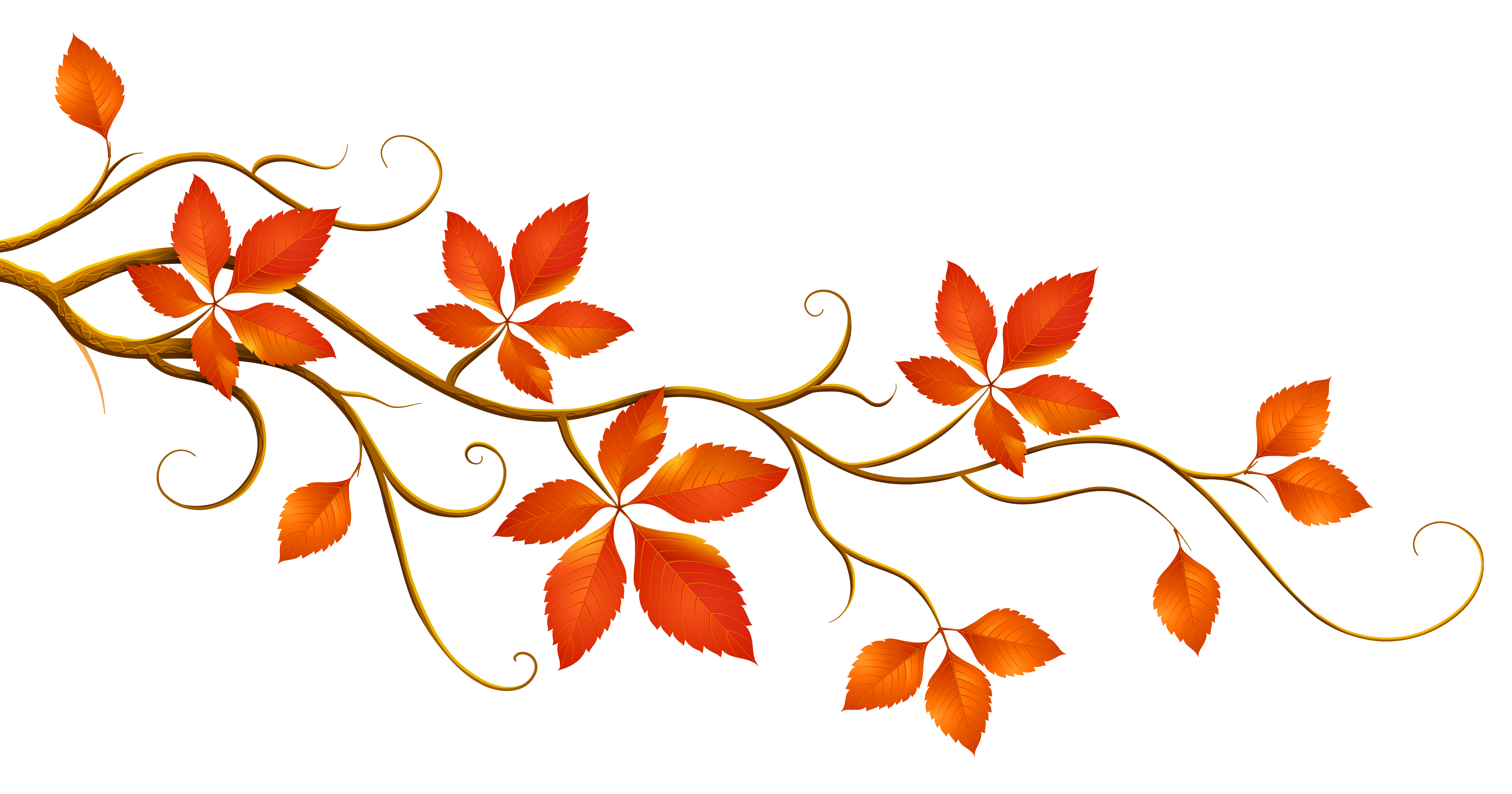 Free autumn flowers cliparts.