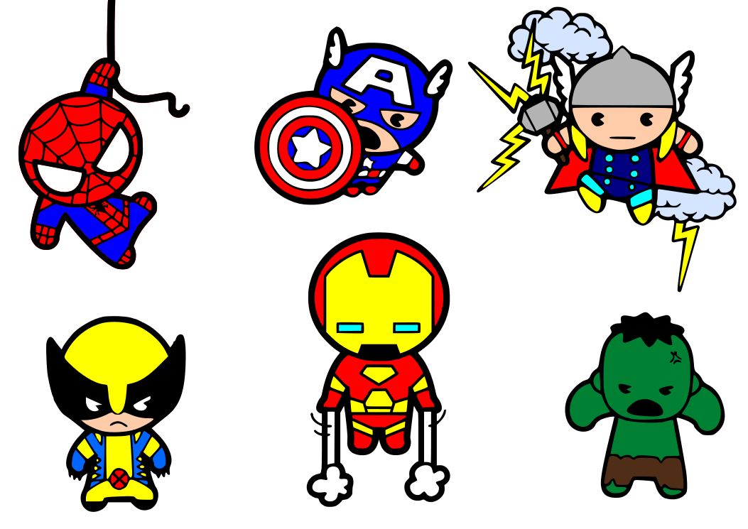 Cartoon clipart avengers.