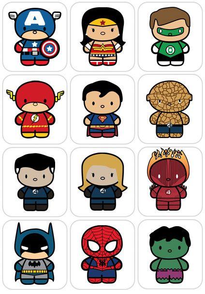 Chibi superheroes superhero.