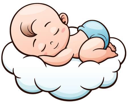 Sleeping baby clipart.