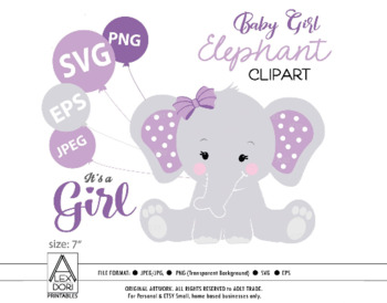 Purple elephant svg.