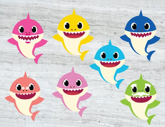 Family shark svg.