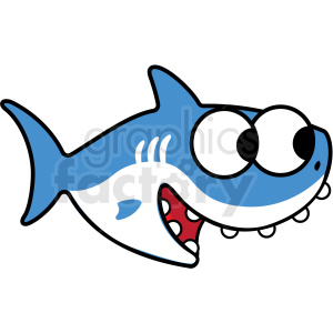 Baby shark vector.