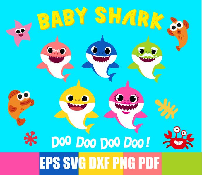 Baby shark svg.