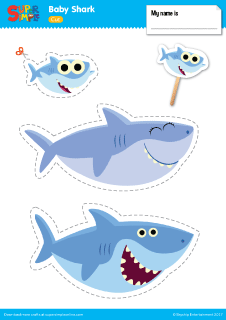 Baby shark template.