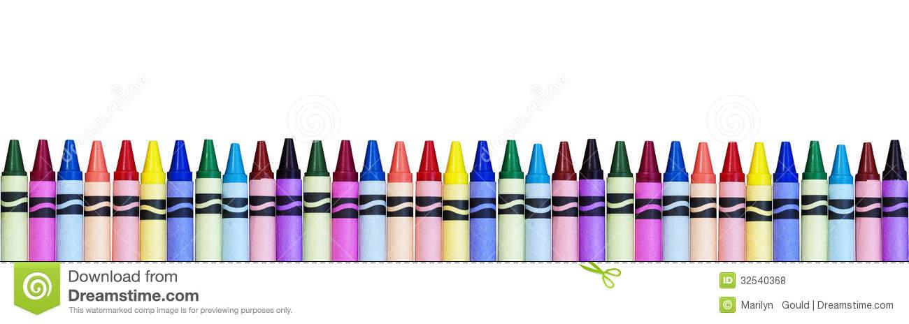 Crayon border free.