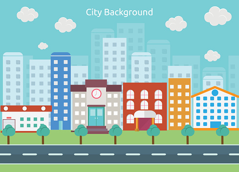 street clipart background