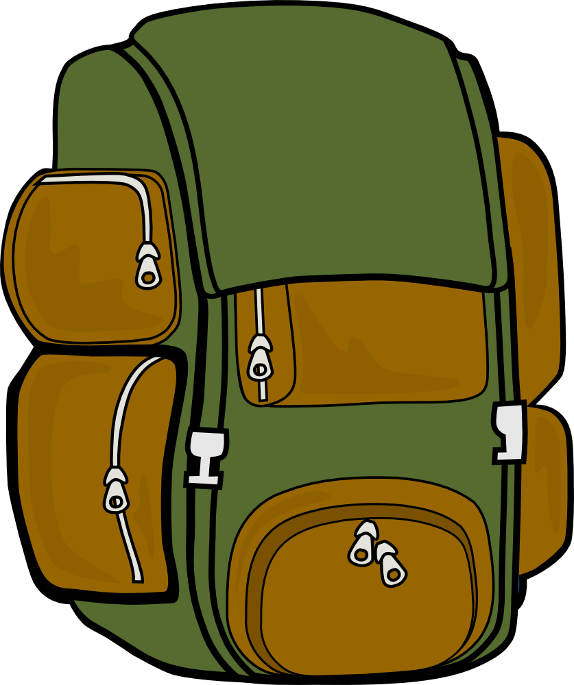 clipart pack travel backpack