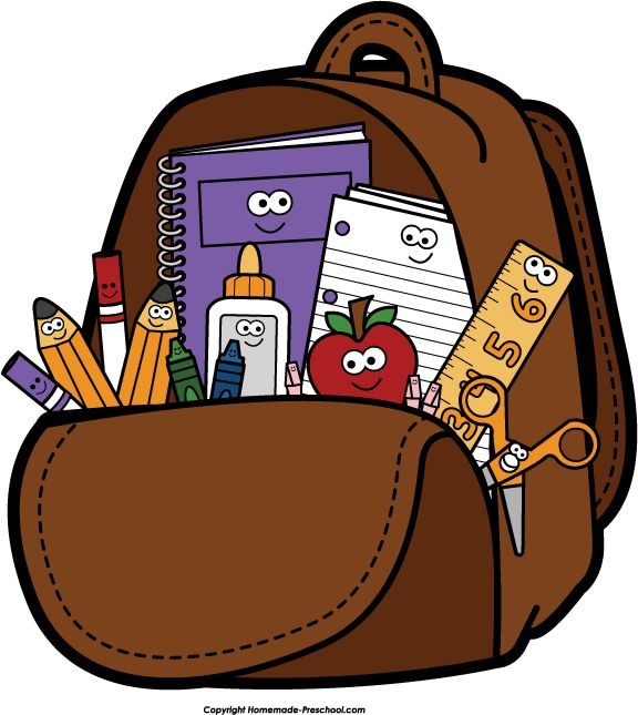 Backpack clipart back to school, Backpack back to school