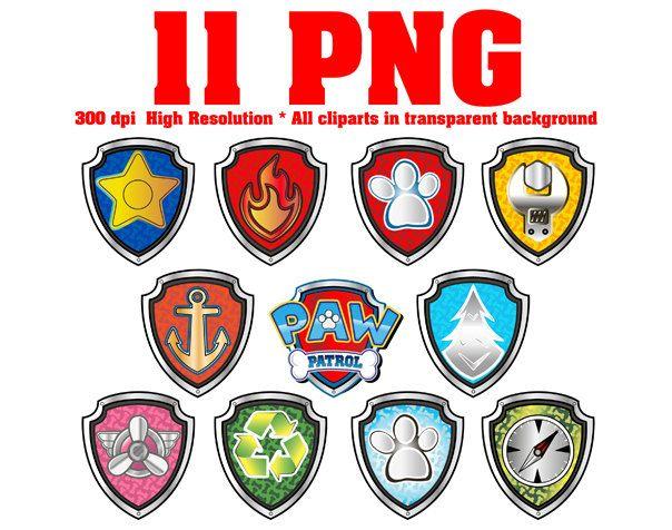 Paw all patrol badges.