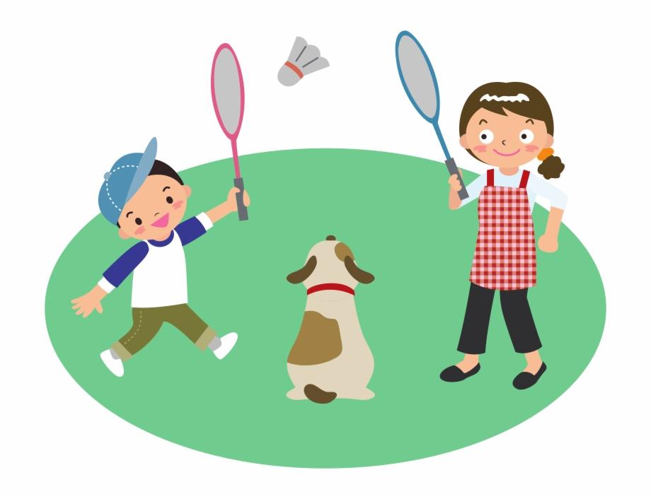Vector Library Badminton Clipart Child