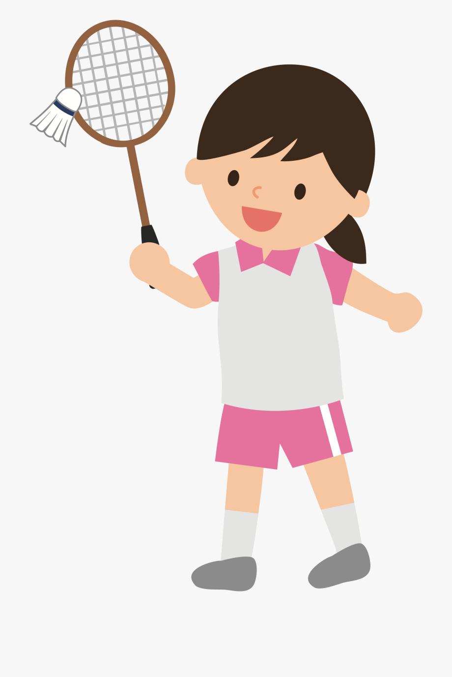 Girl Clipart Badminton