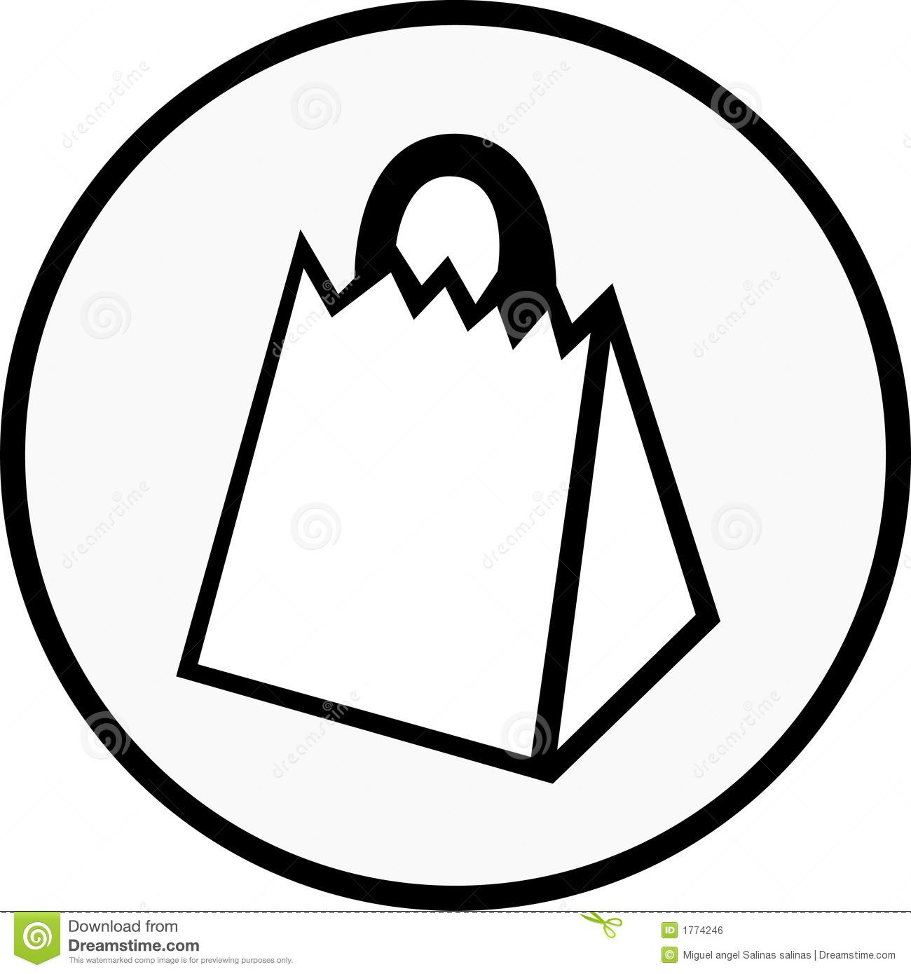 Gift Bag Clipart Black And White