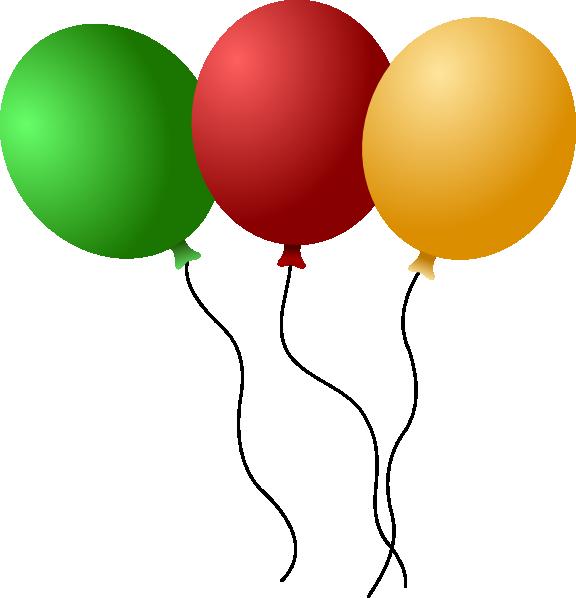 Balloons Clip Art at Clker