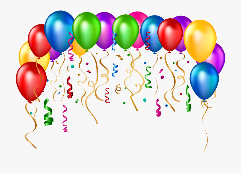 Party balloons clipart.