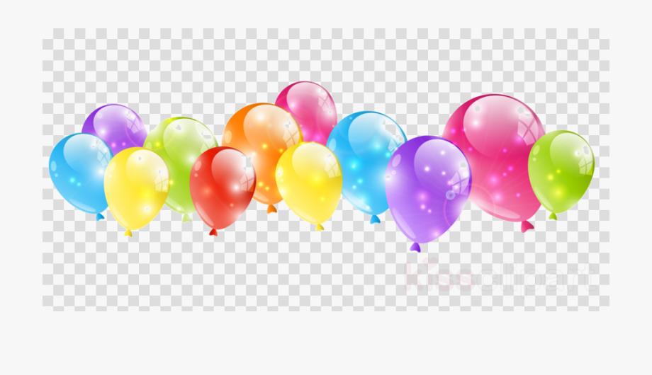 Birthday Balloons Clipart Border