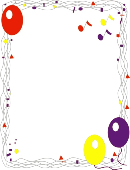 Balloon Border clip art Free vector in Open office drawing
