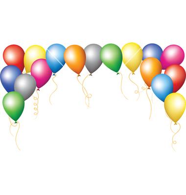 Balloons Border Clipart
