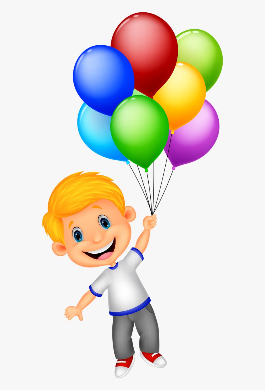 Girl holding balloons.