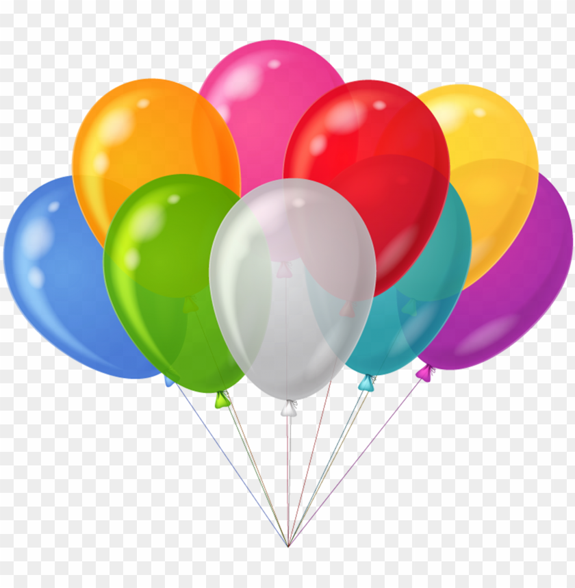 Balloons clipart transparent.