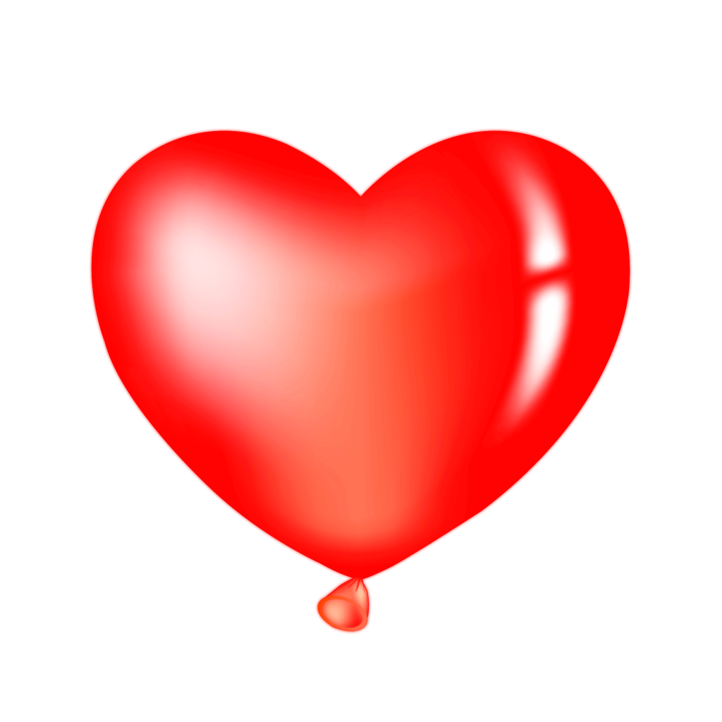 Red Heart Balloon Clipart PNG Image Free Download searchpng