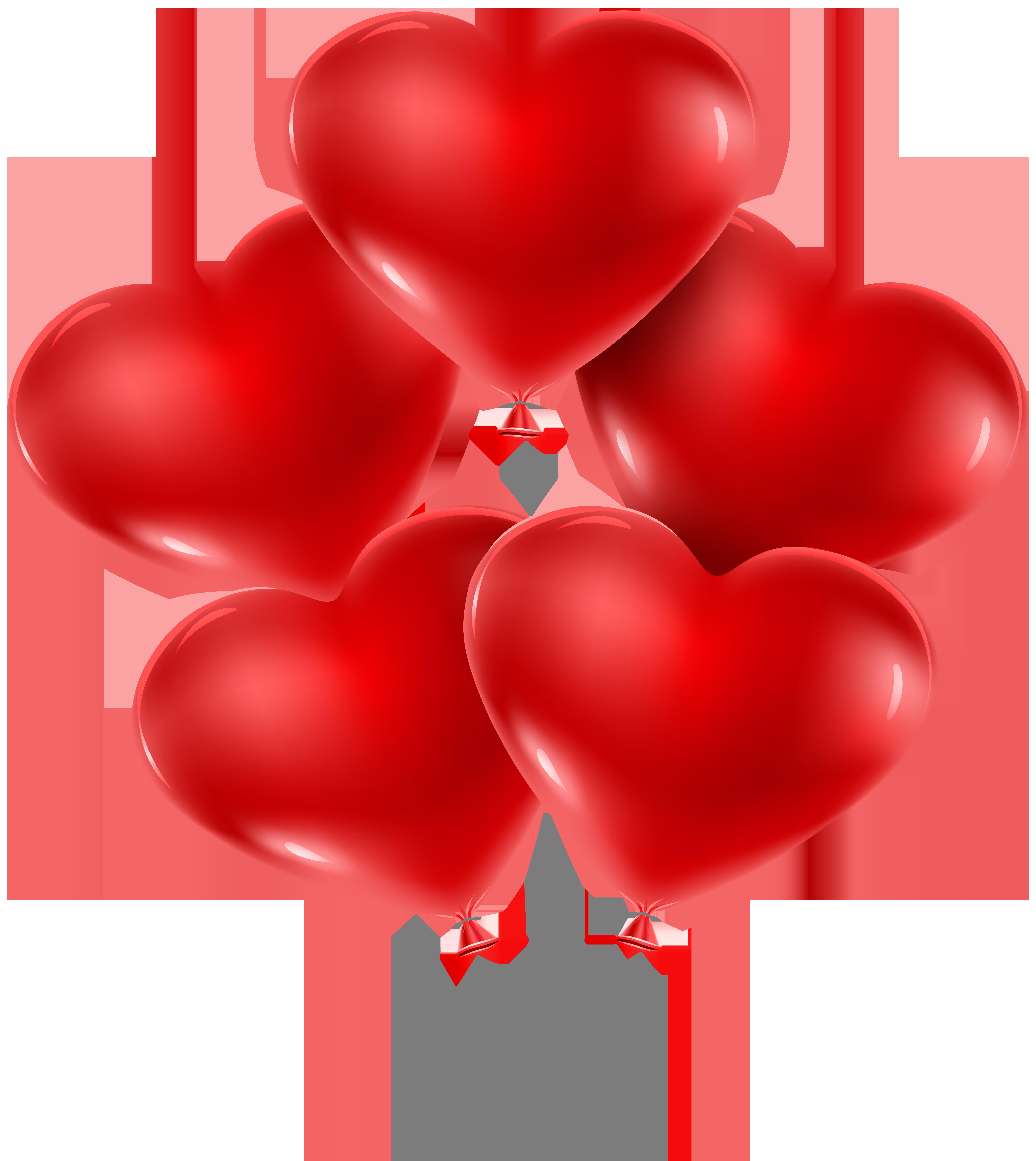 Heart Balloons PNG Clip Art Image