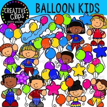 Balloon Kids Clipart