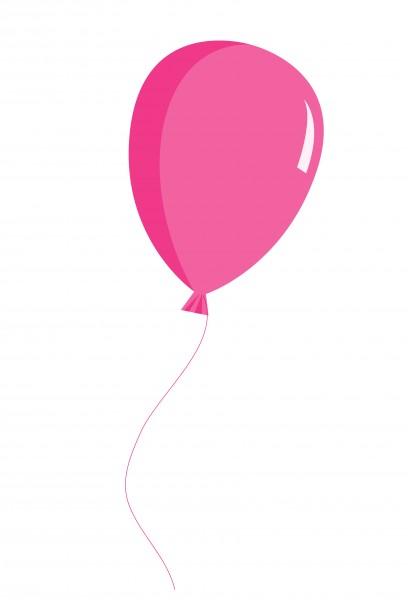 Balloon pink clipart.