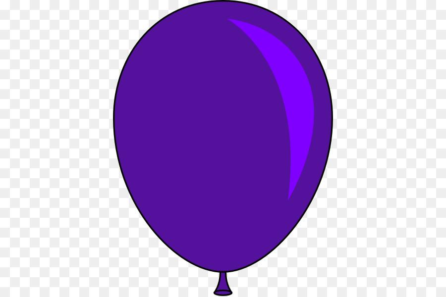Purple balloon clipart