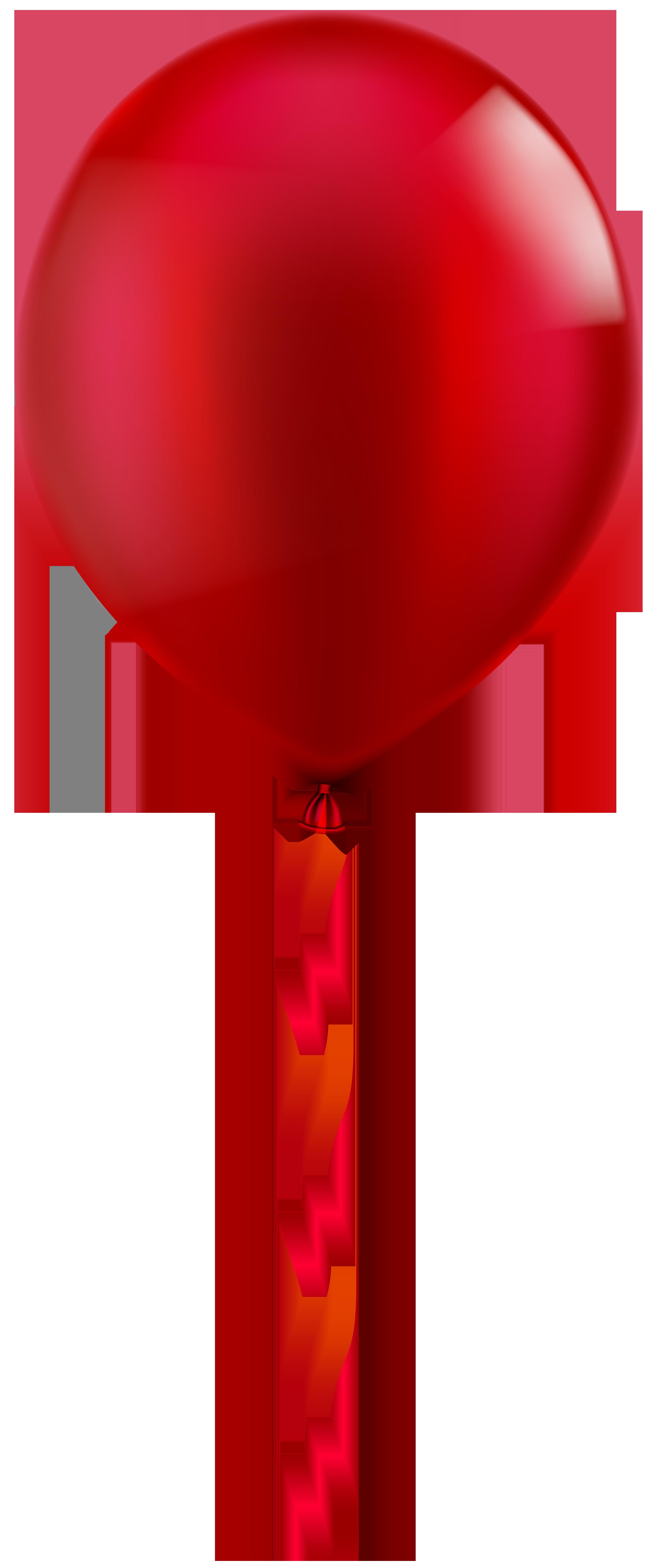 Single red balloon.