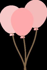 Pink Balloons clip art